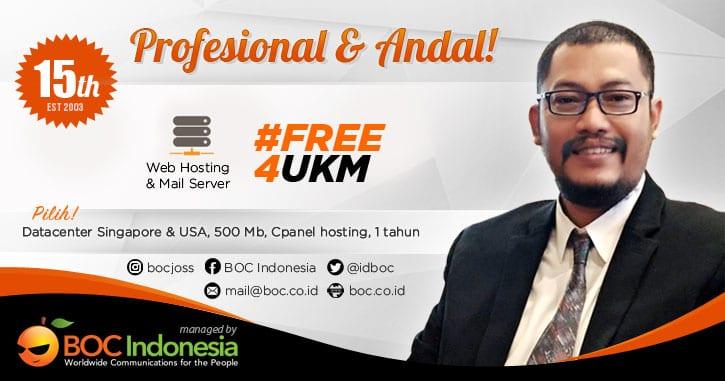 Web hosting gratis ukm